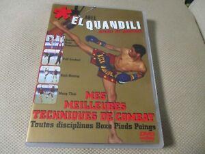 """DVD """"ABEL EL QUANDILI - MES MEILLEURES TECHNIQUES DE COMBAT"""" boxe pieds poings"""