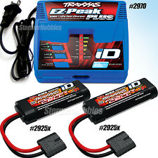 Traxxas EZ-PEAK PLUS iD Charger & (2) 7.2v 1200mAh Batterys 2925X 1/16 SUMMIT