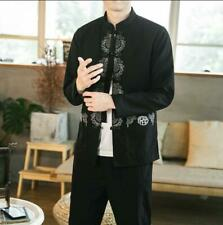 Autumn Stand Collar Jacket Men Chinese Style Casual Tang Suit Shirt Jacket Zsell