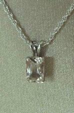 Special SALE Morganite Pink Emerald Beryl 7x5mm 925 Silver Pendant Necklace