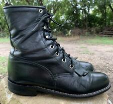 Justin L506 Western Roper Kiltie Boots Womens Laceup Sz 7 B