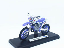 1:18 Welly Honda CR250R 1# Motorcycle Motocross Bike Model Purple New in Box