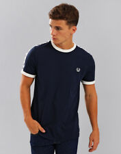 Fred Perry Taped Ringer T-shirt Carbon Blue XL
