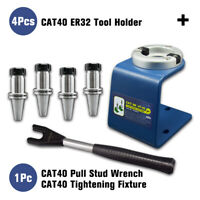 CAT40/SK40/JT40 Tightening Fixture CAT40 Pull Stud Wrench CAT40 ER32 Tool Holder