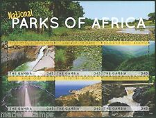 THE GAMBIA  2014 NATIONAL PARKS OF AFRICA  SHEET MINT NH