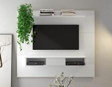 TV Wall Mount Stand for 55 65 70 Inch Entertainment Center Floating Wood White