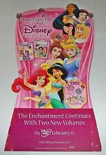 """【RARE】Vintage """"Disney Princess"""" 5' Cardboard Standee!Unused Movie Display in Box"""