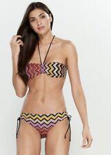 NWT Authentic Missoni Mare Two-piece Metallic Zigzag Bandeau Bikini SZ 42