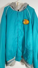 Bass Pro Shops Windbreaker Jacket Sz XL Blue Logo Hood Vintage USA Made 5106