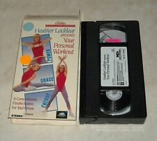 VHS TAPE in SLEEVE - HEATHER LOCKLEAR presents YOUR PERSONAL WORKOUT FITNESS