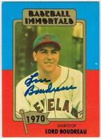 Original Autograph PSA/DNA of Lou Boudreau on a Baseball Immortals Card