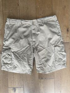 ROUNDTREE & YORKE Beige Cargo Shorts Size 44 Cotton Pockets XXL