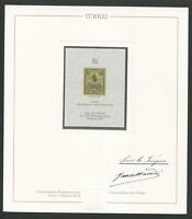 TÜRKEI Nr. 1 OFFICIAL REPRINT UPU CONGRESS 1984 MEMBERS ONLY !! RARE !! z1627