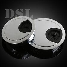 50 mm brossé Ordinateur Métal oeillet pour Bureau Table Câble Tidy, Outlet Fil Cover