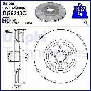 FRONT BRAKE DISCS FOR VAUXHALL INSIGNIA GSI (PAIR)  NEW Delphi BG9240C  REDUCED