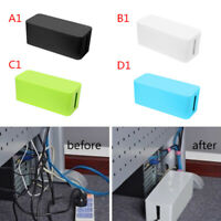 Socket Storage Box Power Strip Outlet Surge Cord Organizer Cable Management jgh