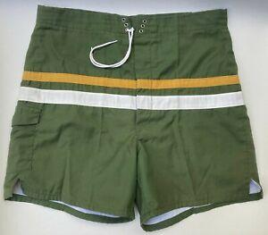 1960s Atomic Swimming Trunks Shorts  60s Mod Starburst Print Resort Wear  Men\u2019s LXL