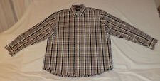 NAUTICA LONG SLEEVE MULTI-COLORED PLAID BUTTON FRONT SHIRT      L      K#4505