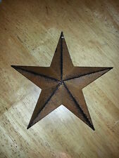 "Lot of 6 Primitive 8"" Rusty Barn Stars - Decorate, Craft, Country, Rustic, Metal"