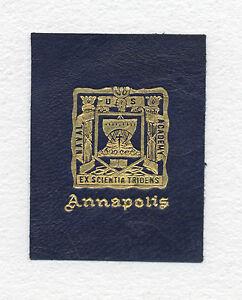 1912 ANNAPOLIS COLLEGE LEATHER TOBACCO PREMIUM L-20 SERIES