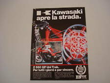 advertising Pubblicità 1983 MOTO KAWASAKI GPZ 550