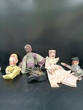 Lot De Quatre Marionnettes Anciennes