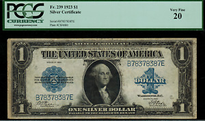 1923 $1 Silver Certificate FR-239 - Graded PCGS 20 - Very Fine