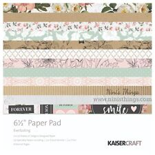 "KAISERCRAFT Scrapbooking 6.5"" Paper Pad - Everlasting PP1057"