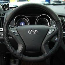 Gauss Premium Steering Wheel Cover - AVANTE-GARDE Black / 38 cm Gift for All Man