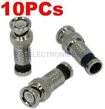 10Pcs RG59 BNC Weatherproof Sealed Compression Connectors CCTV Camera DVR