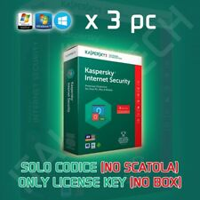 ANTIVIRUS KASPERSKY INTERNET SECURITY 2017 X 3 DISPOSITIVI (SOLO CODICE SERIALE)