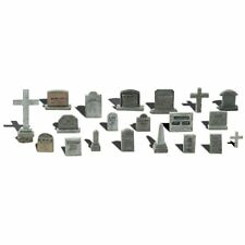 Painted Tombstones (OO/HO figures x 20) Woodland Scenics A1856 - free post F2