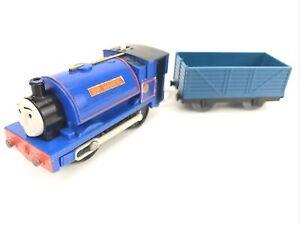 Trackmaster SIR HANDEL W/ Blue Load Car THOMAS Train Mattel Motorized TESTED