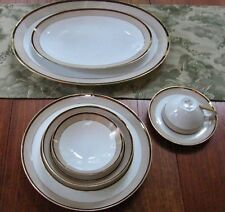 Original SANGO JAPAN Fine China ~TROUSSEAU Pattern~Setting for 6 with 2-Platters