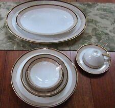 Original SANGO JAPAN Fine China ~TROUSSEAU Pattern~Setting for 6 AND 2 Platters
