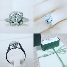 18ct White Gold 1.18ct Round Brilliant Cut Diamond Halo Engagement Ring Size O