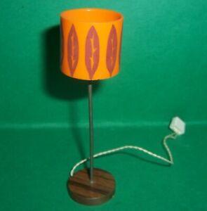 VINTAGE 1970's LUNDBY DOLLS HOUSE RETRO LIGHT UP FLOOR LAMP