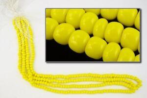 4/0 Opaque Yellow Czech Seed Bead (40 gram) #CSU023