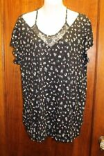 Maurices NWOT Black Floral Top Shirt 1X
