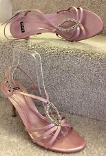 Bertie Sandals Size 7 Women's Pink Leather Ladies Party Evening Shoes