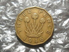 More details for 1946 george vi threepence - scarce.