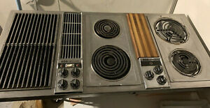 """Jenn Air 47"""" Downdraft Electric Cooktop Stainless 3 Bay w/ Grill & Griddle C301"""