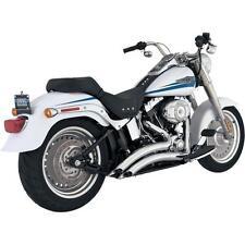 Vance & Hines Big Radius 2-Into-2 Exhaust Chrome Harley Softail FLSTF/C/N FXST