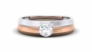 Stylish 0.25 Cts Natural Diamond Unisex Solitaire Ring In Fine Hallmark 18K Gold