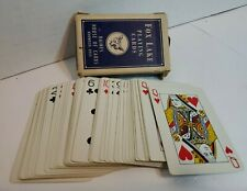 Fox Lake Playing Cards Magic Trick Deck Haines House Of Cards Norwood Ohio (B83)