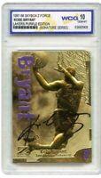 Kobe Bryant 1997 Skybox Z-Force Signiert Wcg Gemmt 10 23KT Gold Rookie Card