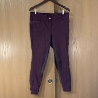 Montar Womens Nancy Burgundy Full Seat Silicone Equestrian Riding Pants Size 46