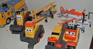 Disney toy Planes Cars vehicles Dusty Leadbottom Blackout Pulaski Drip Buck CHUG