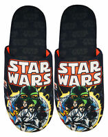 Star Wars Comic Poster and Logo Men's Black Mule Slippers