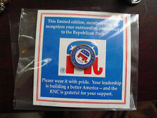 """1998 Republican National Committee RNC Party Pin 3/4"""" Wide on Card"""